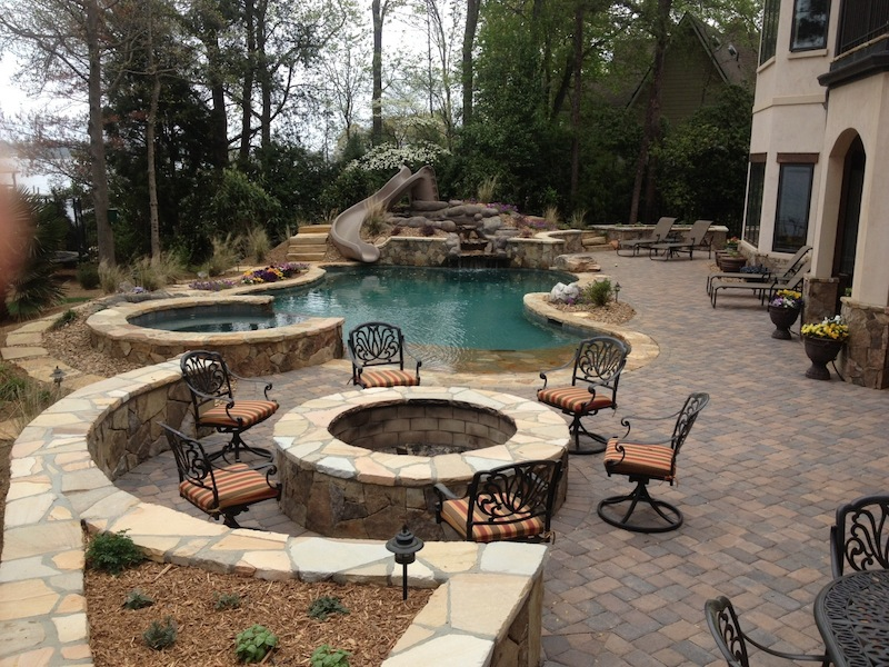 Custom Swimming Pool and Spa Photos | Charlotte | Waxhaw | Weddington