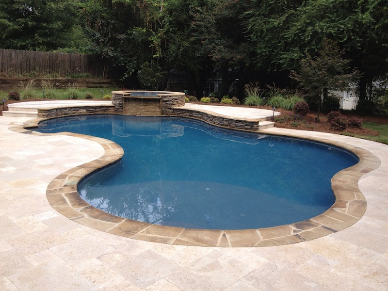 Custom Inground Pool Designs custom swimming pool and spa photos | charlotte | waxhaw | weddington