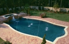 Custom Swimming Pool & Spa with Laminars & Deck Jets