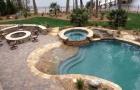 Freeform Pool & Spa with Concrete Decking