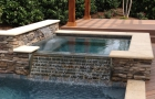 Geometric Designed Overflow from Spa